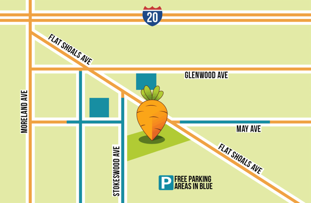 East Atlanta Village Farmers Market Map