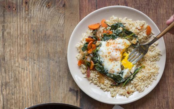 Veggie & Eggs Skillet