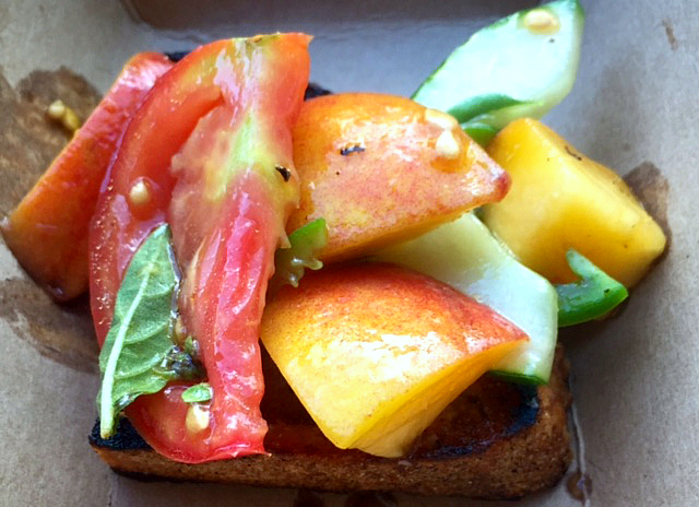 2016-07-12 Chef Dan Farm Burger Tomato Bruschetta