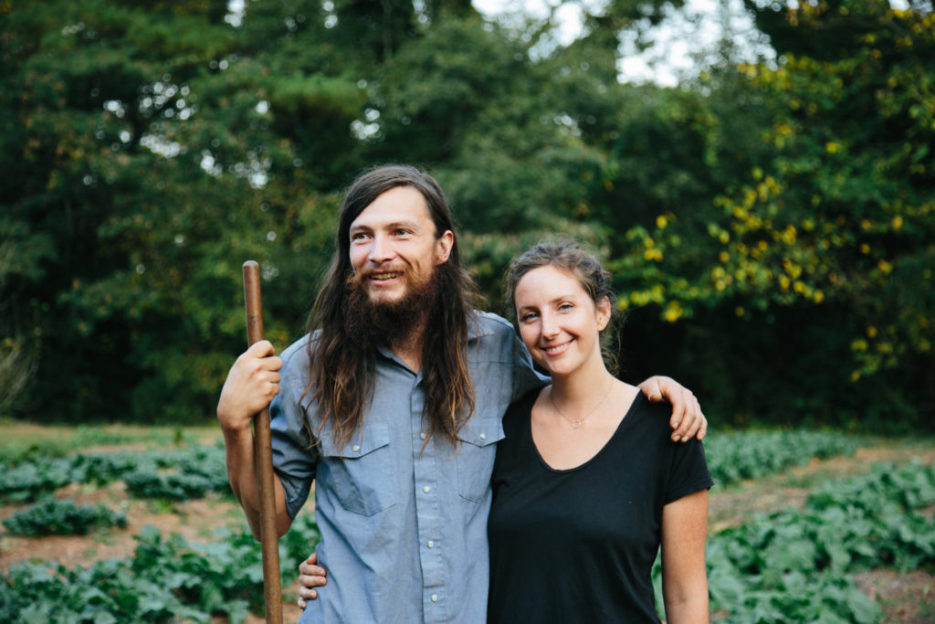 Farmer Chris and Farmer Isia of Crack in the Sidewalk Farmlet